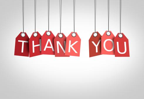 Thanking concept - Labels displaying the words Thank You - Free Stock Photo