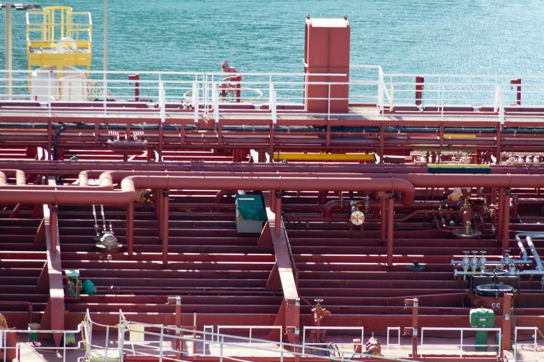 Piping on the Deck of an Oil Tanker - Free Industrial Stock Photos