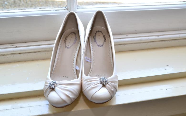 Free Stock Photo of Brides Shoes Created by Kate Towers