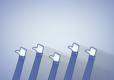 Many thumbs up icon - Liking on the social media networks - Free Stock Photo