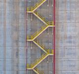 Free Photo - Yellow Stairs on Storage Tank