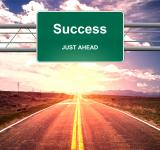 Free Photo - Success Just Ahead road sign - Success and successful life concept