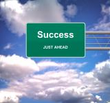 Free Photo - Success Just Ahead road sign - Success concept