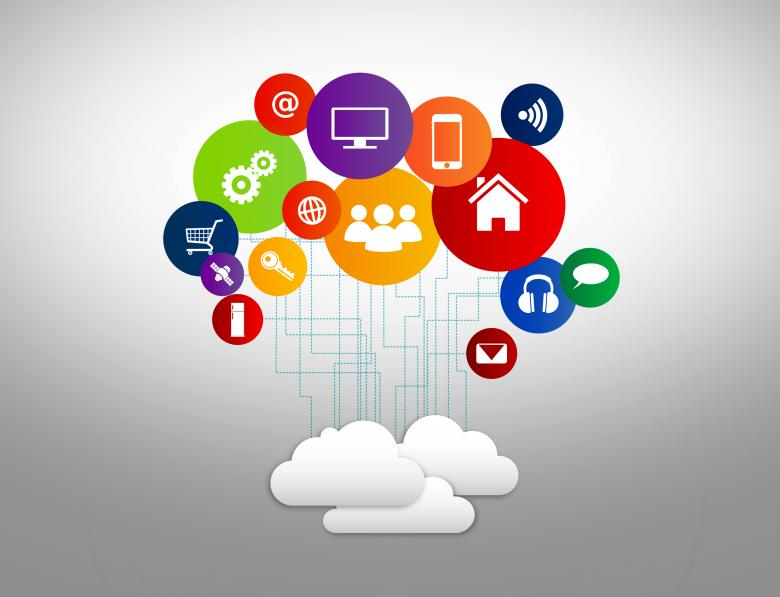 Free Stock Photo of Internet of Things concept with digital cloud and devices Created by Jack Moreh