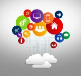 Free Photo - Internet of Things concept with digital cloud and devices