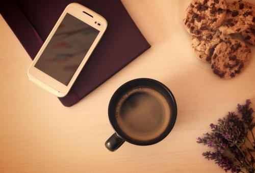 Morning coffee and cookies - Free Stock Photo