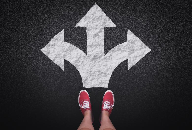 Free Stock Photo of At a crossroads - Decisions and choices concept with large arrow signs Created by Jack Moreh