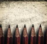 Free Photo -  Illustration of vintage style red pencils over rough background