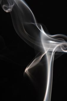 smoke on black - Free Stock Photo
