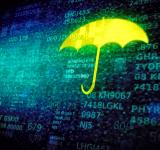 Free Photo - Web and cyber security concept with umbrella on data screen