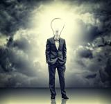 Free Photo - Businessman with lightbulb head