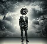 Free Photo - Businessman with stopwatch head - Time concept
