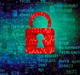 Free Photo - Cyber security concept with red padlock on data screen