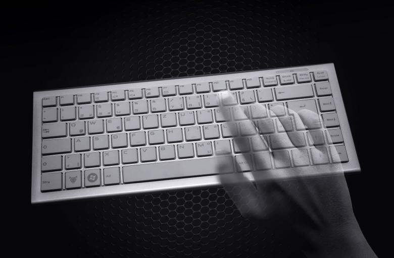 Hacking concept - Transparent hands over computer keyboard - Free Computer Stock Photos