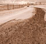 Free Photo - Winding Winter Road - Sepia Nostalgia