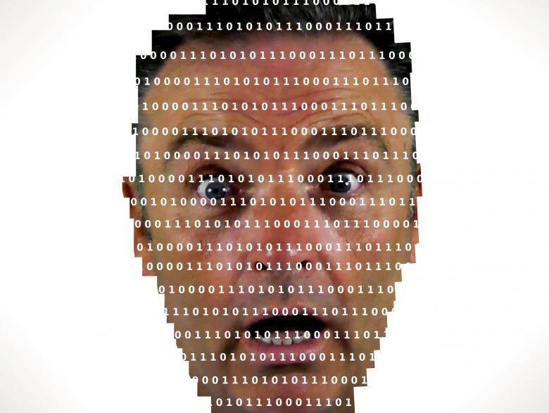 Free Stock Photo of Surprised man looking into binary code - The online privacy problem Created by Jack Moreh