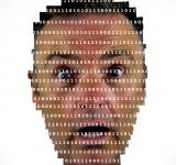 Free Photo - Surprised man looking into binary code - The online privacy problem