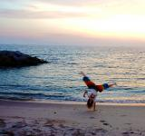 Free Photo - Girl Handstand on the Beach