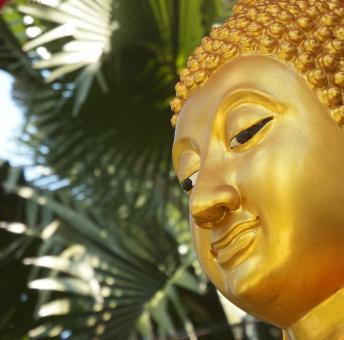 Golden Buddha Face - Free Stock Photo