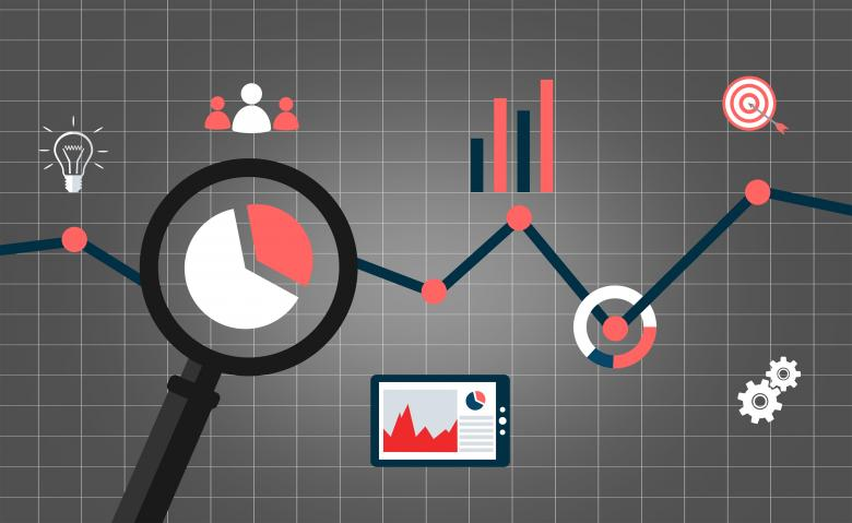 Free Stock Photo of Web analytics concept with data icons Created by Jack Moreh