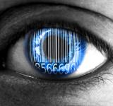 Free Photo - Human eye with barcode - Big data concept