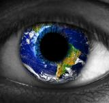 Free Photo - Human eye with planet Earth