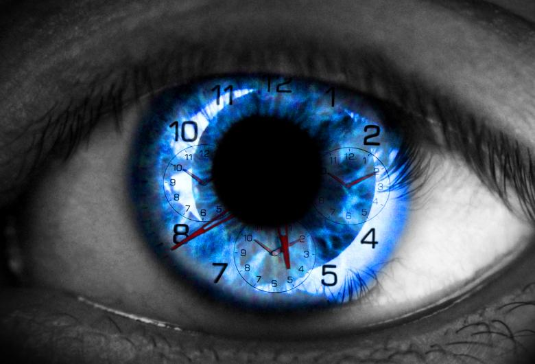 Free Stock Photo of Human eye with clock - Time concept Created by Jack Moreh