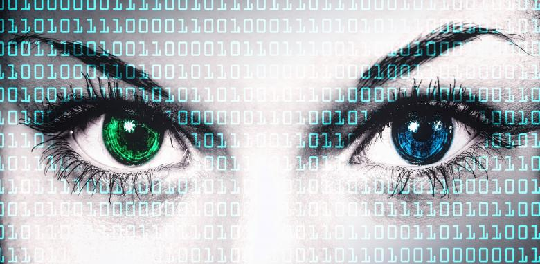 Free Stock Photo of Binary computer code on human face - Online privacy concept Created by Jack Moreh