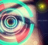 Free Photo - Human eye being scanned on virtual screen - Biometrics concept