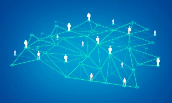 Linked In a Network - Social network and social connections concept - Free Stock Photo