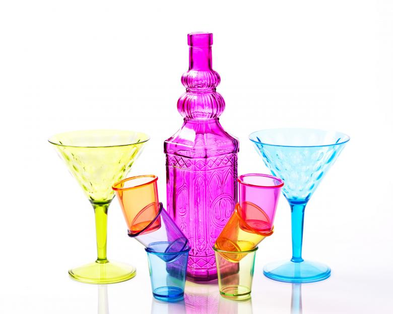 Free Stock Photo of Shot glasses and drinking glasses. Created by Geoffrey Whiteway