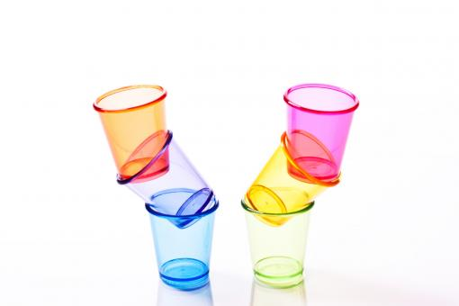 Shot glasses and drinking glasses. - Free Stock Photo