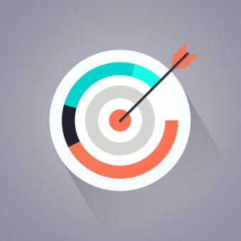 Targeting your audience - Arrow and target - Free Stock Photo