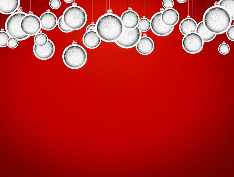 Christmas balls with delicate snowflakes - Free Christmas Illustrations