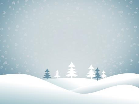 Christmas snowy landscape - Xmas postcard with copyspace - Blue tones - Free Stock Photo