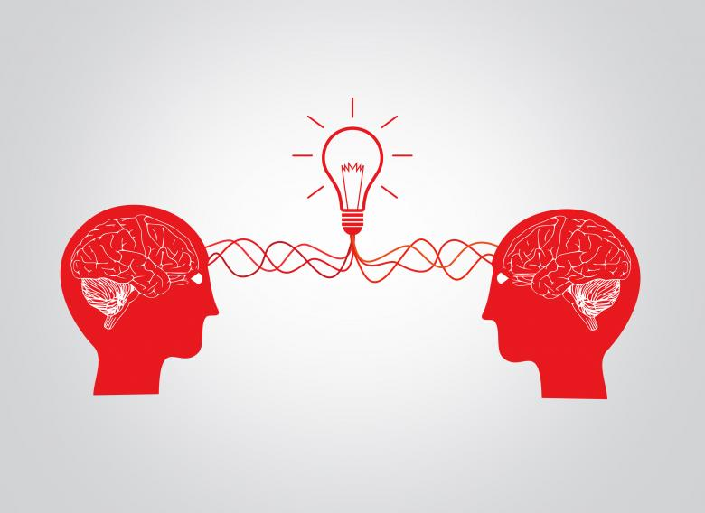 Free Stock Photo of On the same wavelenght - Two brains having an idea Created by Jack Moreh