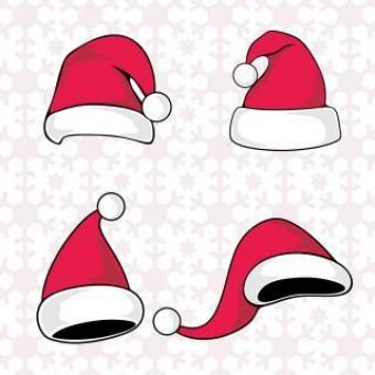 Santa Claus red hat silhouette - Free Stock Photo