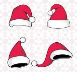 Free Photo - Santa Claus red hat silhouette