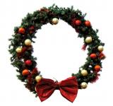 Free Photo - Christmas wreath on white background