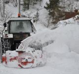 Free Photo - Tractor clearing snow