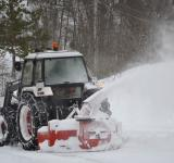Free Photo - Tractor clearing the snow