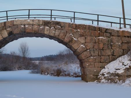 Winter bridge - Free Stock Photo