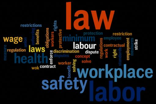 Labor law wordcloud - Free Stock Photo