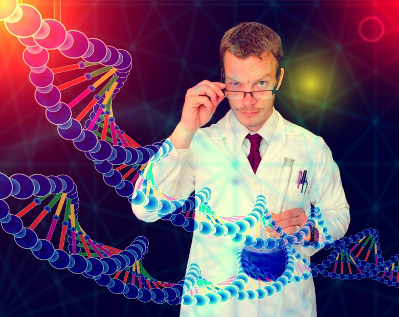 Free Stock Photo of Medical Doctor Performing DNA Analysis and Sequencing - Illustration Created by Jack Moreh
