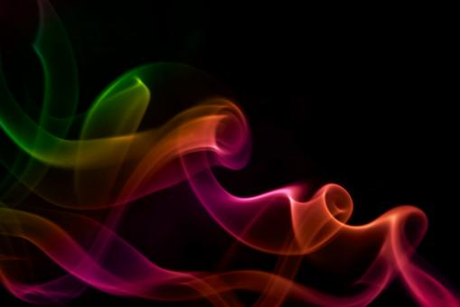 Colored smoke on black - Free Stock Photo