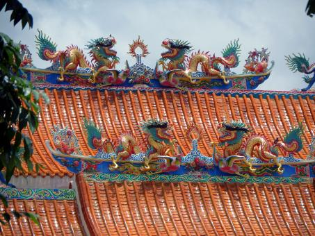 Chinese temple roof detail - Free Stock Photo