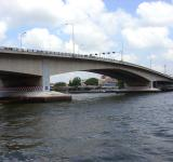 Free Photo - Pinklao Bridge and Chao Phraya River, Bangkok