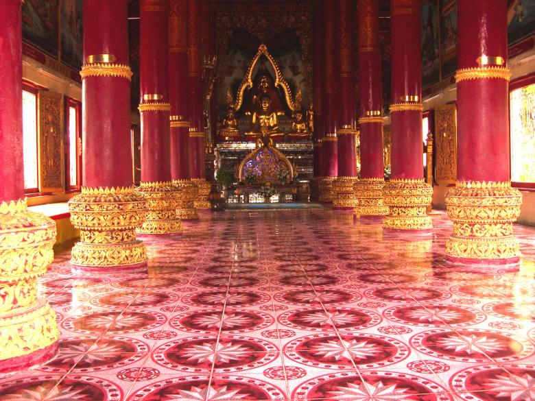 Free Stock Photo of Inside a Thai Buddhist Temple Created by Chas Mac