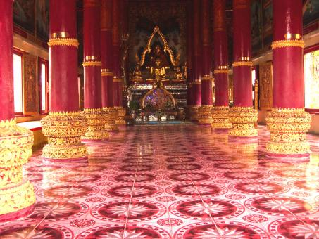 Inside a Thai Buddhist Temple - Free Stock Photo