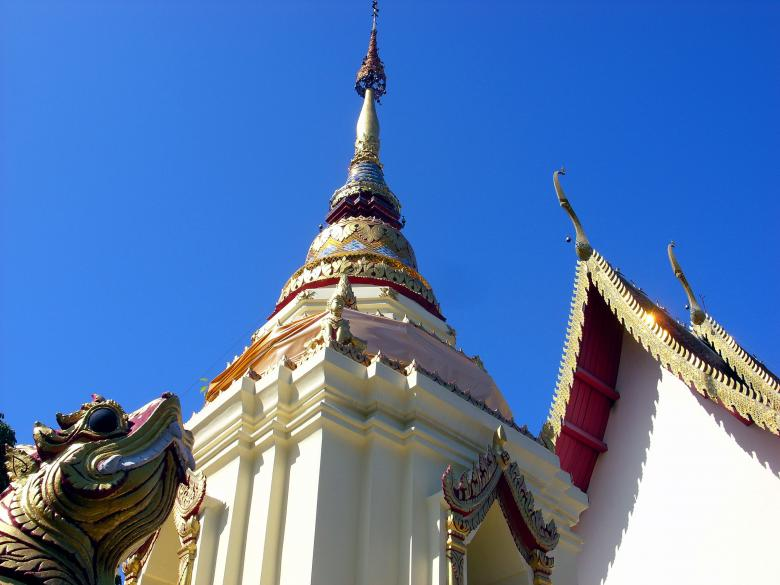 Free Stock Photo of Thai Buddhist temple pagoda  Created by Chas Mac